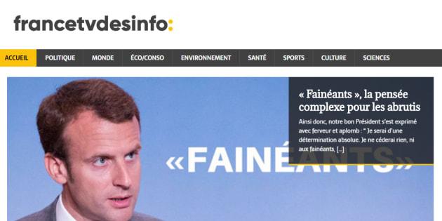 Les cyber-militants Insoumis contraints de fermer leur site parodique de France Info
