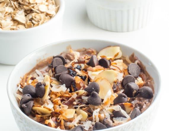 Overnight German chocolate oats