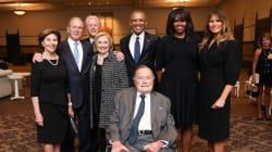 Il manque quelqu'un sur cette photo prise aux funérailles de Barbara