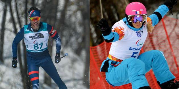 Jeux paralympiques de Pyeongchang: Benjamin Daviet et Cécile Hernandez raflent l'argent en biathlon et en snowboard.