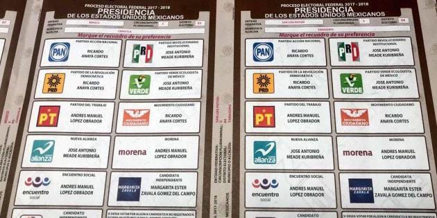 En la boleta electoral sí aparecerá el nombre de Margarita Zavala; sin embargo, cualquier voto para ella será considerado inválido.