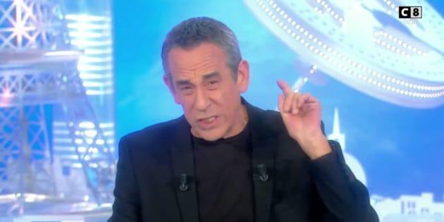 """Thierry Ardisson dans """"Salut Les Terriens"""" le samedi 11 novembre 2017."""