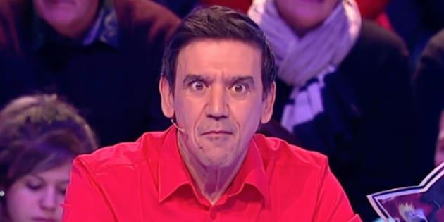"""Christian Quesada, sur le plateau de Jean-Luc Reichmann dans l'émission """"les 12 coups de midi"""", sur TF1."""