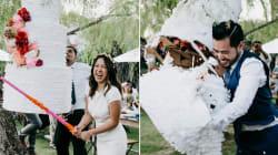 Los recién casados que cambiaron el pastel de bodas por otra festiva