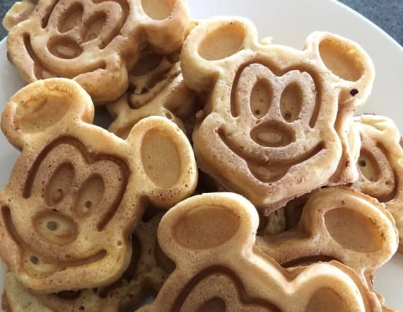 How to make Disney's famous Mickey Mouse waffles