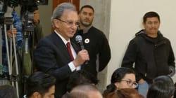 VIDEO: Los expresidentes de México, Nino Canún, AMLO y Deschamps en la mañanera de Palacio