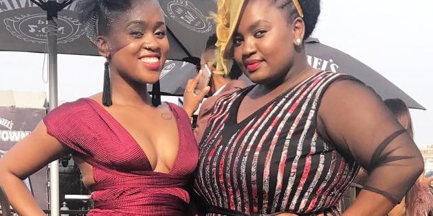 HuffPost SA engagement editor Shandukani Mulaudzi and entertainment reporter Duenna Mambana.