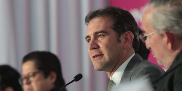 El consejero presidente del INE, Lorenzo Córdova. durante una conferencia de prensa en la sede del instituto, el 29 de junio de 2018.