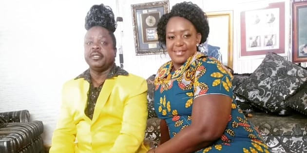 Penny Penny and his wife, Susan Ngoveni a.k.a Mama Nomi.