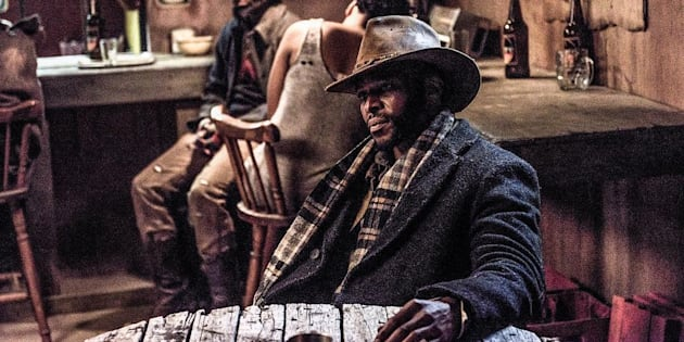 "Vuyo Dabula in the film ""Five Fingers For Marseilles""."