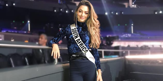 This Dubai designer took centre stage at the Miss Universe final