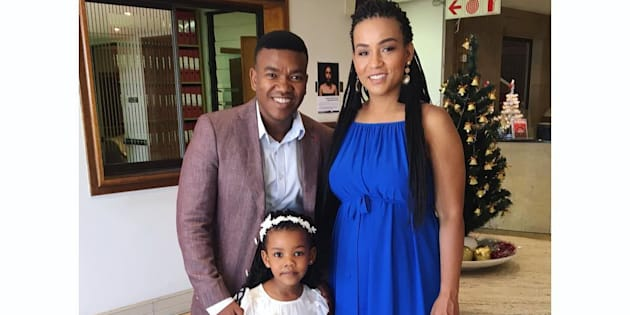 Loyiso and Jennifer Bala with their first daughter, Kenzie.