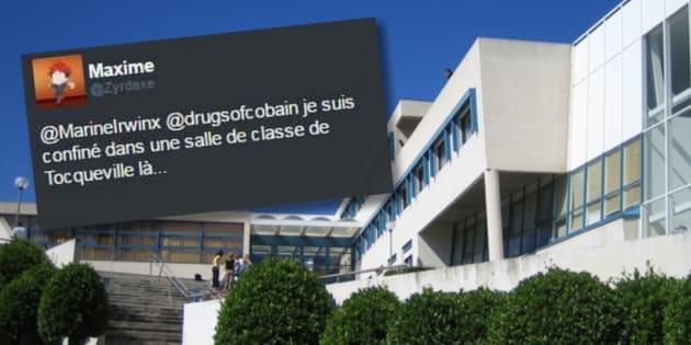 Fusillade au lycée Alexis de Tocqueville à Grasse: les élèves rassurent leurs proches sur Twitter