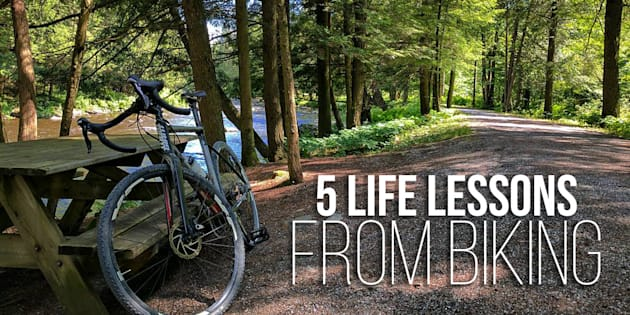 The parallels between life and biking. 5 life lessons I learned on my cycling journeys that help me in my daily life.
