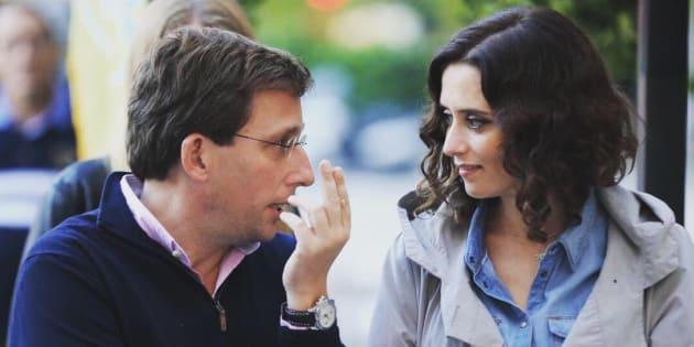 Isabel Díaz Ayuso y José Luis Martínez-Almeida, candidatos del PP al Ayuntamiento de Madrid y a la Comunidad