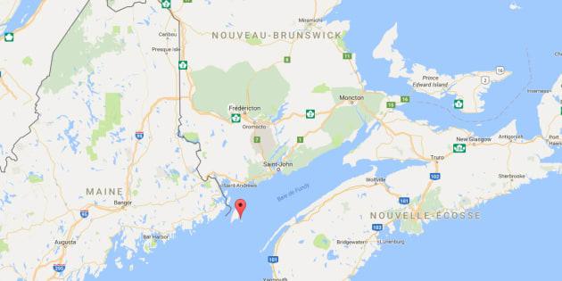 L'île est située tout au sud du Nouveau-Brunswick.