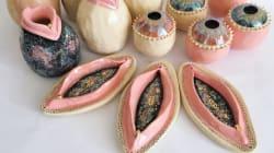 Estas piezas de cerámica con forma de vulva son lo que necesitamos para decorar nuestro