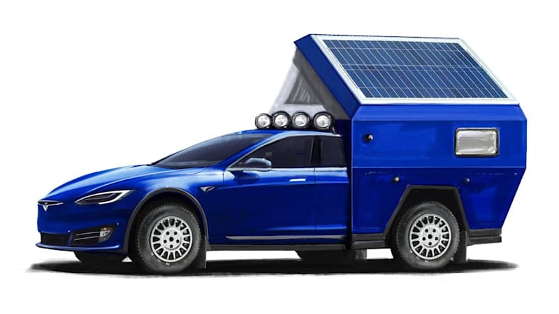 TV host modifying a Tesla Model S as a camper RV   Autoblog