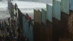 VIDEO: La caravana migrante llega a California, con todo y la molestia de
