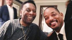 Will Smith se encuentra con Pelé: 'Conocí a una