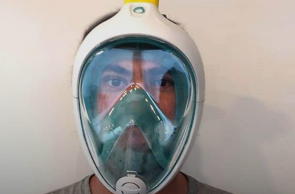 Brilliant hack turns scuba masks into ventilators