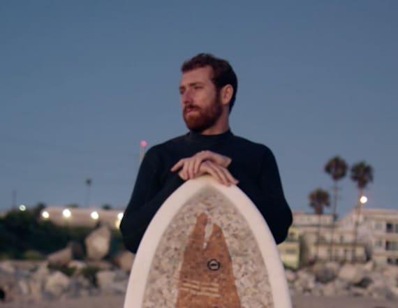 Man turns cigarette butts into stunning surfboard