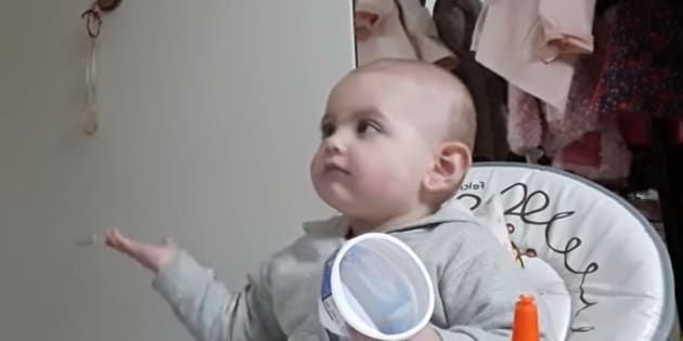 Madre y bebé protagonizan tierna escena al 'discutir' | Redes Sociales