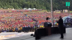 Donald Trump fait huer Barack Obama par 45 000 scouts lors d'un grand rassemblement