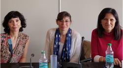 """Piñeiro, Portela y Djament: """"El escritor tiene una responsabilidad social y tiene que"""