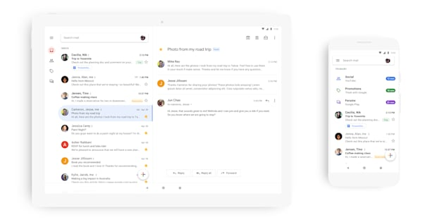 Gmail : la nouvelle version de l'application mobile est disponible