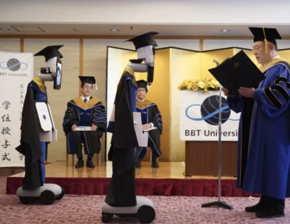 University holds graduation with robot 'avatars'