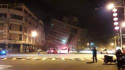 À Taïwan, un hôtel s'effondre après un tremblement de terre de magnitude