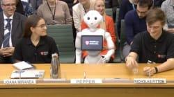 📹 Pepper el robot comparece ante un comité del parlamento