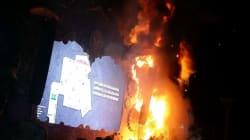 Un immense feu ravage la scène d'un festival près de