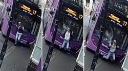 Miraculé après avoir été violemment heurté par un bus, il se relève pour aller au
