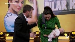 Pilar Rubio, a punto de parir, asusta en directo a Pablo
