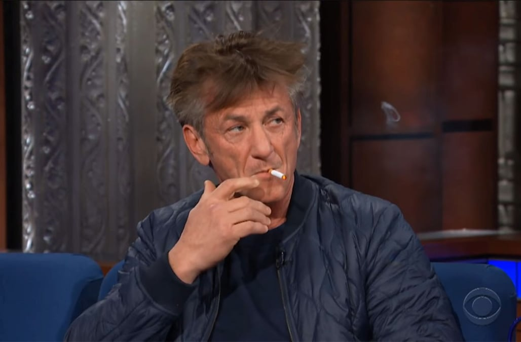 Sean Penn Smokes Several Cigarettes On The Late Show Says He S On