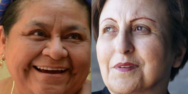 Rigoberta Menchu y Shirin Ebadi, dos de las firmantes de la carta.
