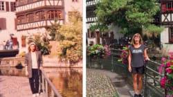 Elle reproduit les mêmes photos de son année à l'étranger 30 ans plus