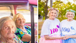 100-Year-Old Twins Mark Birthday With A Sassy, Tutu-Filled Photo