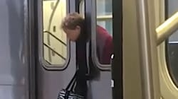 Subway Doors Trap Woman By The Neck And Observers' Reaction May Surprise