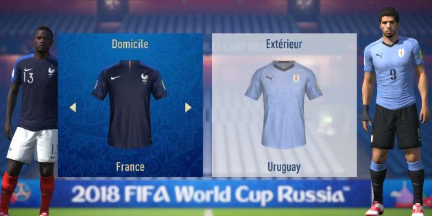 """France-Uruguay à la Coupe du monde 2018: l'intelligence artificielle de """"FIFA18"""" donne un avant-gout d'un match serré."""