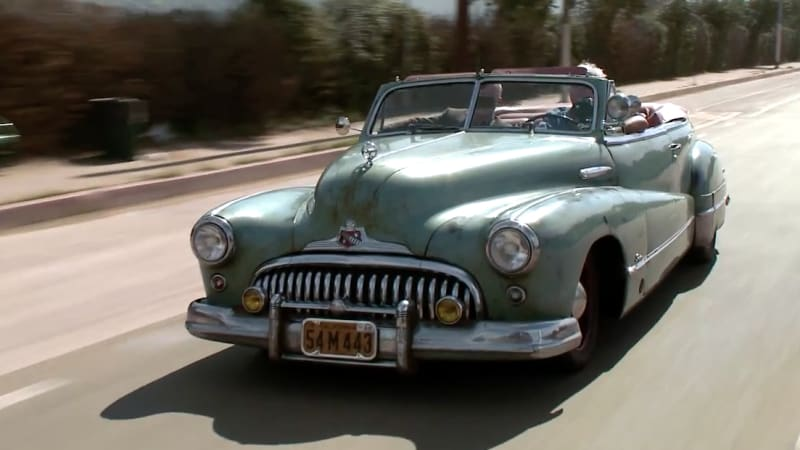 Jay Leno Finds No Detail Neglected On Icon S Derelict 1948 Buick Super Autoblog