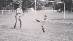 David Beckham Shares Adorable Videos Of Harper's First Football