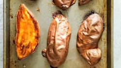 A Brilliant Way To Cook Sweet Potatoes In Half The