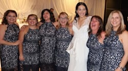 Six Women Wore The Same Dress To A Wedding And No, They Weren't