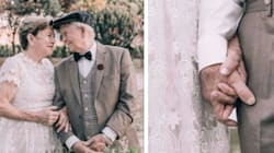 Couple Takes Their Wedding Photos 60 Years After Tying The
