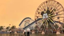Imágenes apocalípticas de Disneylandia por los incendios en