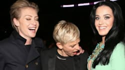 Ellen DeGeneres Criticized For Breast-Ogling Katy Perry Photo