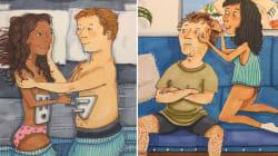 Estos dibujos captan a la perfección cómo es el amor en pareja cuando nadie